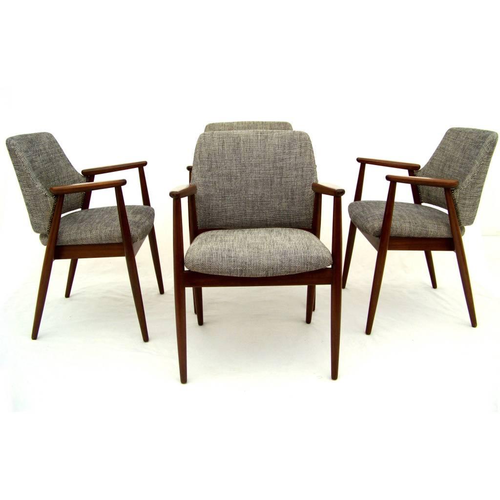 teak dining chairs danish design 24vintage