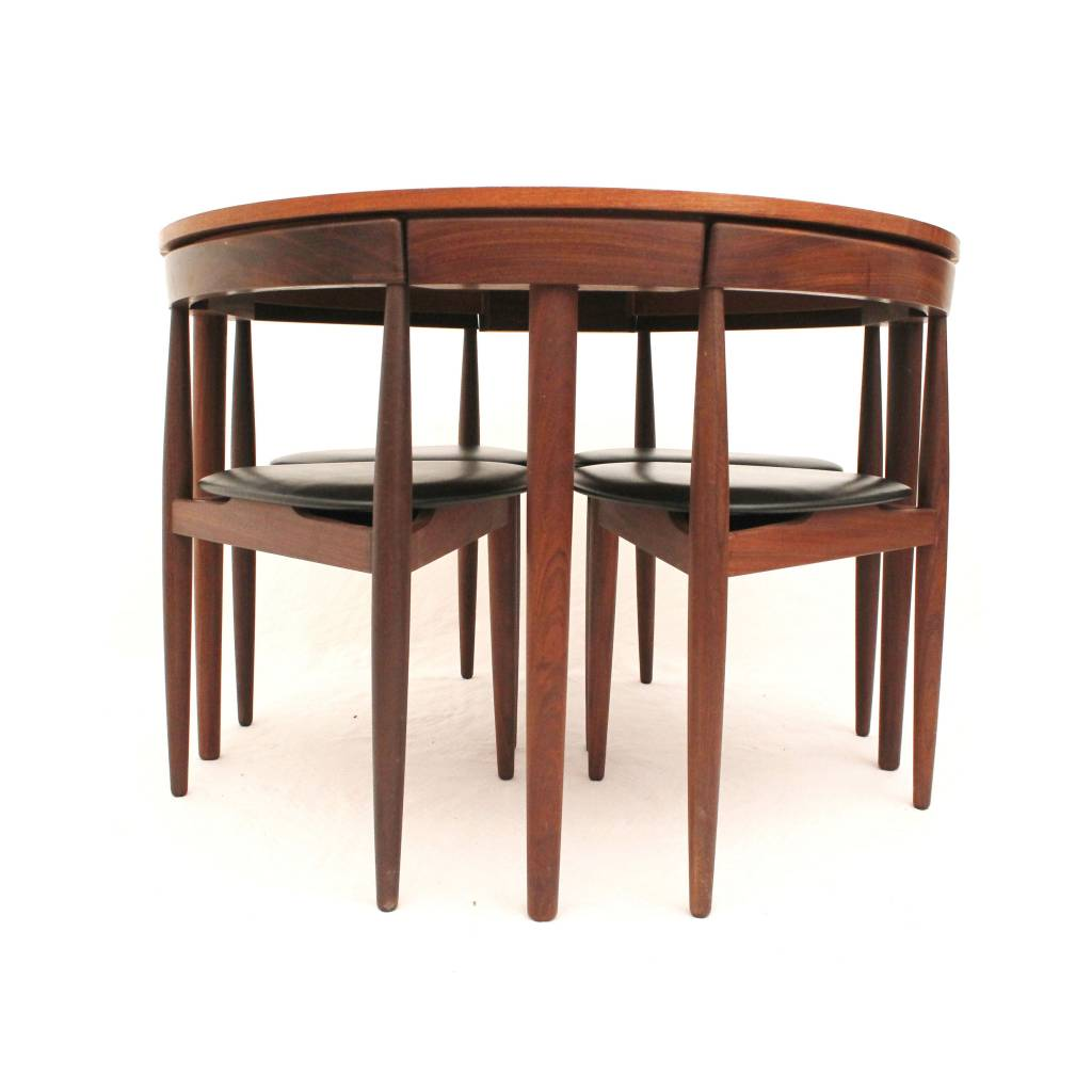 Frem r jle roundette dining set designed by hans olsen for Dining set decoration