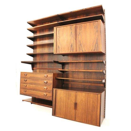 Feldballes møbelfabrik møbler rosewood wall system designed by kai ...