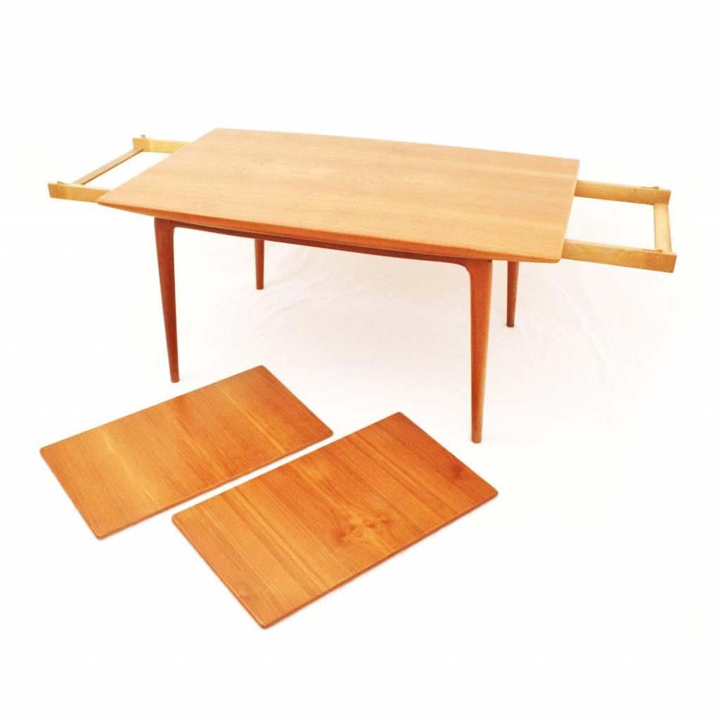 Teak uitschuifbare tafel ontworpen door Erik Christensen voor Slagelse Mobelvaerk, Deens Design