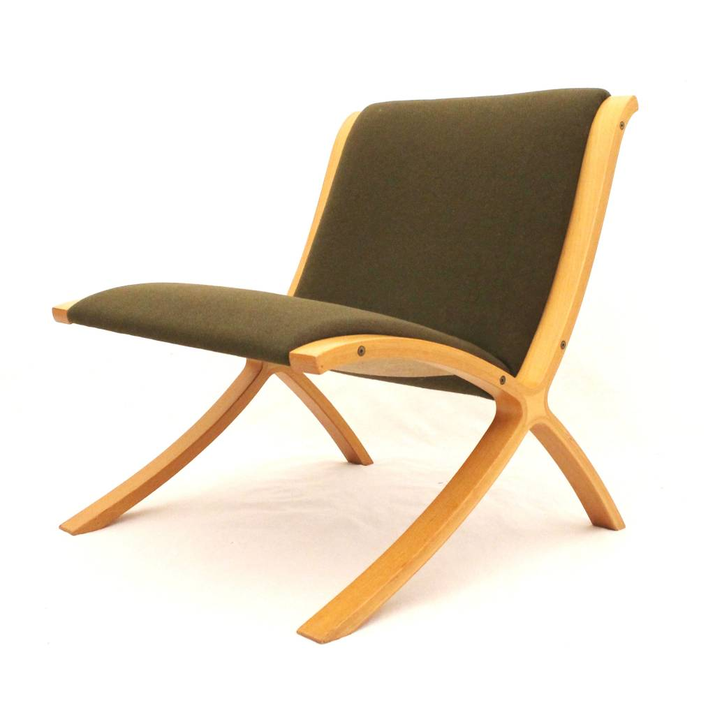 Superb img of Fritz Hansen Ax Chair designed by Peter Hvidt & Orla Mølgaard Nielsen  with #C0750C color and 1024x1024 pixels