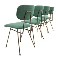Set of four dining chairs designed by W.H. Gispen for Kembo, Dutch Design