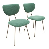 Set of two dining chairs designed by W.H. Gispen for Kembo, Dutch Design