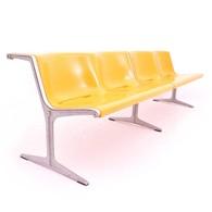 Model 1200 four seater sofa designed by Friso Kramer for Wilkhahn, Dutch Design