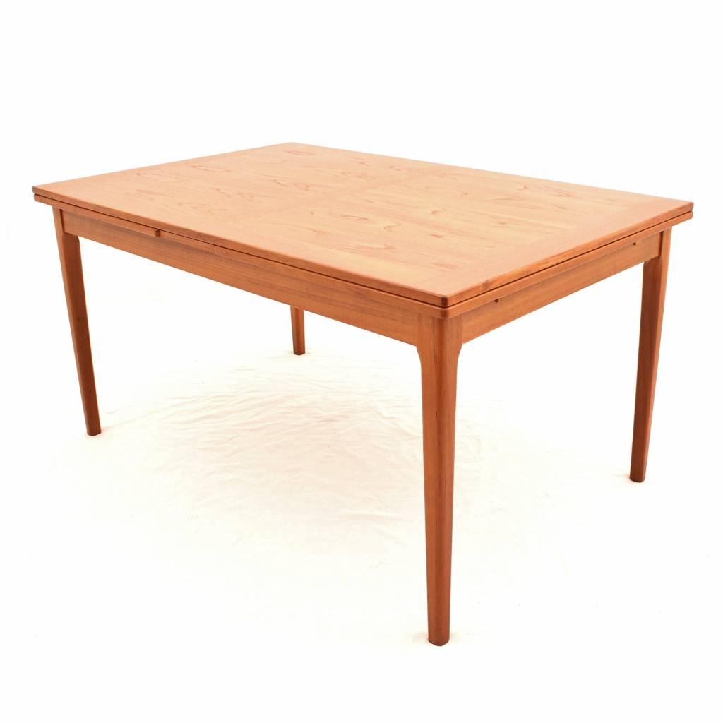 teak extendable dining table from dyrlund danish design 24vintage