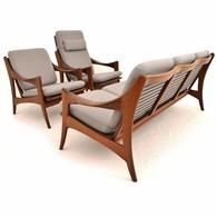 Teak zithoek van De Ster Gelderland uit de jaren 50, Nederlands Design
