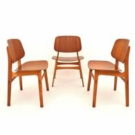 Model 155 stoelen ontworpen door Børge Mogensen voor Søborg Furniture, Deens Design