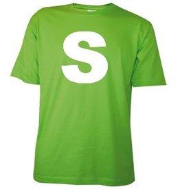 Katoenen lichtgroene T-shirts in maat S