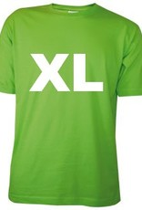 Katoenen lichtgroene T-shirts met bedrukking van een logo kopen?
