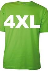 Katoenen lichtgroene T-shirts met bedrukking van een tekst kopen?