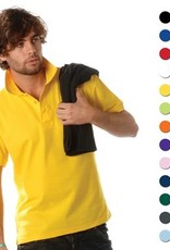 Goedkope poloshirts voor heren (Men's polo pique) in de kleur roze kopen?