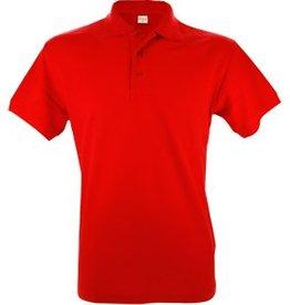 Goedkope rode poloshirts voor heren (Men's polo pique)