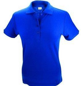 Dames Poloshirts in de kleur kobaltblauw (maten S t/m XXL)