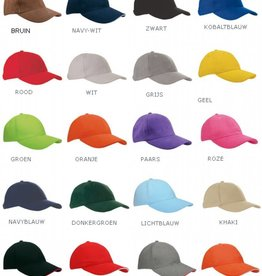 Baseballcaps voor volwassenen (maat is verstelbaar aan de achterzijde)