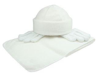 Fleece winterset met handschoenen, muts en sjaal!