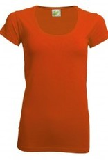 Dames T-shirts, extra lang, bodyfit (getailleerd)