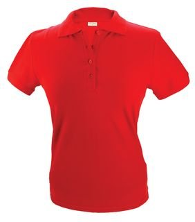 100% katoenen dames Poloshirts (polo pique) in de kleur zwart