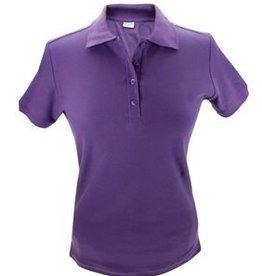 100% katoenen paarse dames Poloshirts (polo pique)
