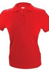 100% katoenen dames Poloshirts (polo pique) in de kleur lichtgroen