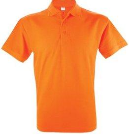 Goedkope oranje poloshirts voor heren (Men's polo pique)