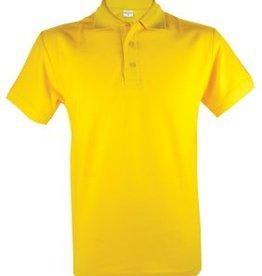 Goedkope gele heren poloshirts (Men's polo pique)
