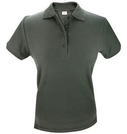 100% katoenen donkergrijze dames Poloshirts (polo pique)