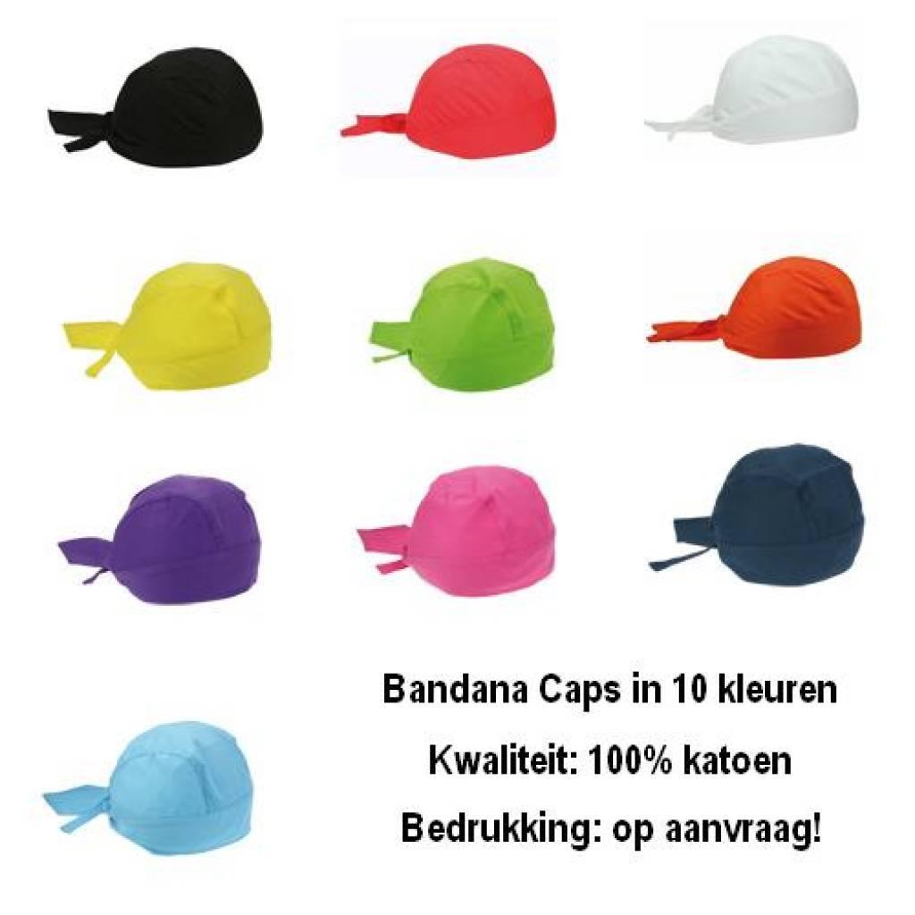 Bandana caps in de kleur oranje kopen? Deze Bandana caps zijn geschikt voor kinderen en volwassenen!