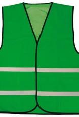 Goedkope Veiligheidshesjes in de kleur groen voorzien van reflecterende strepen (uni volwassen maat)