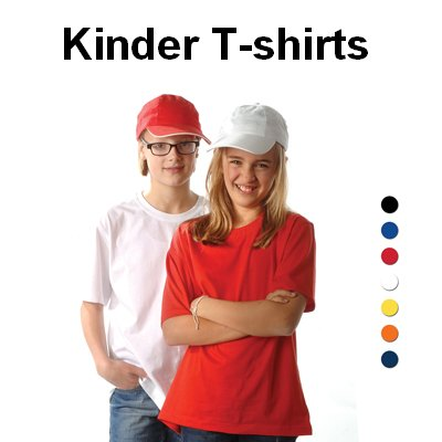 Goedkope witte kinder T-shirts voor maar € 3,75 per stuk!