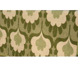 * VERKOCHT * Prachtige art deco, groene wollen deken