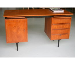 * VERKOCHT * Prachtig vintage design bureau met extra uitschuifbare bladen!
