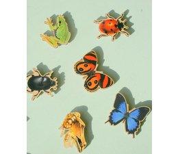 Fraaie natuur memo magneten, div dieren