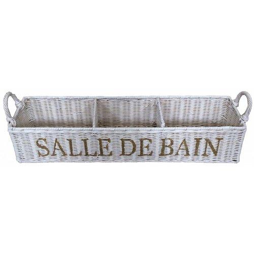 Sweet Living Witte Rieten Opberger - Salle De Bain
