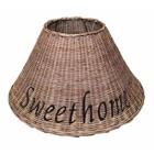 Sweet Living Bruine Rieten Lampenkap Sweet Home - Vloerlamp