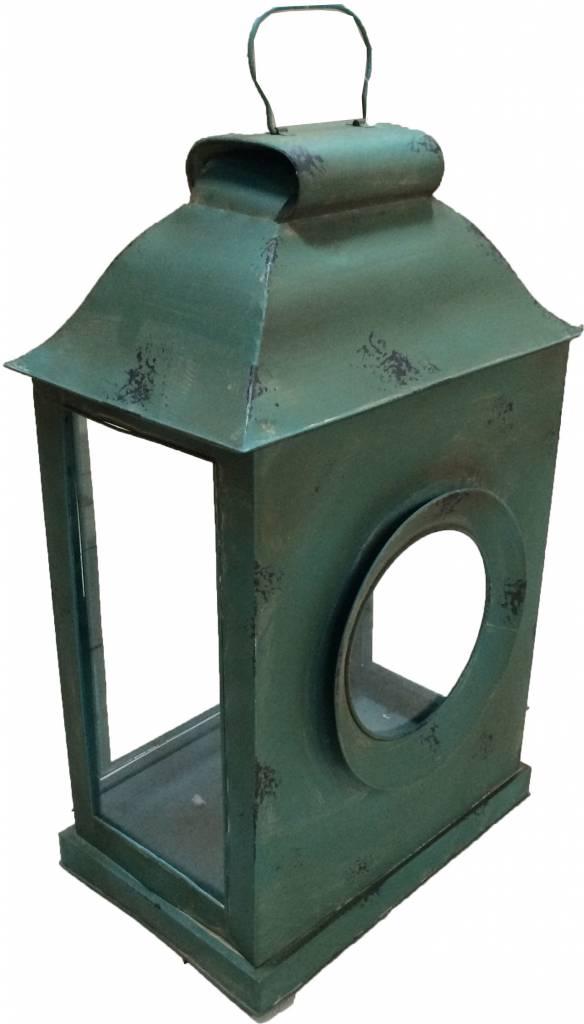 Groene metalen lantaarn Xl Selah