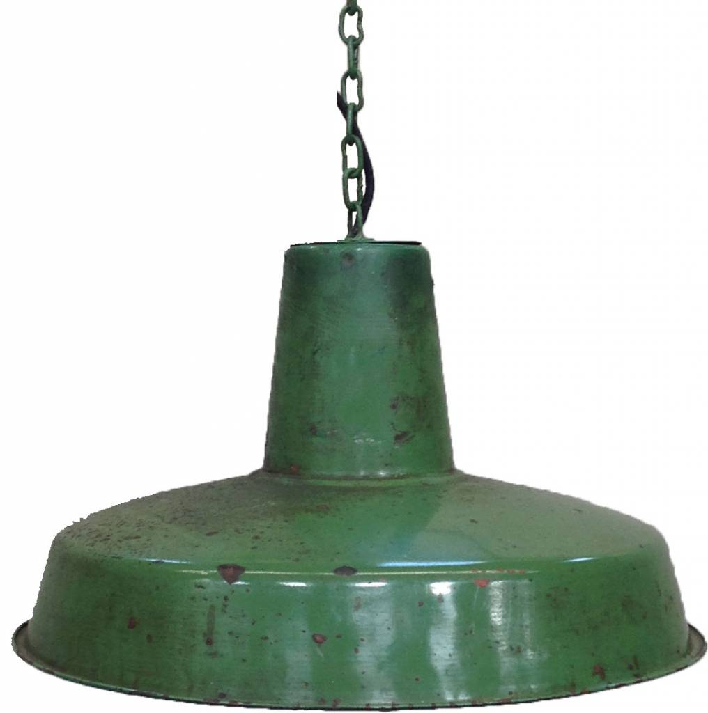 Industriële hanglamp groen Trademark Living