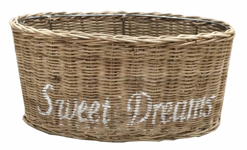 Sweet Living Ovalen Rieten Lampenkap - Sweet Dreams wit