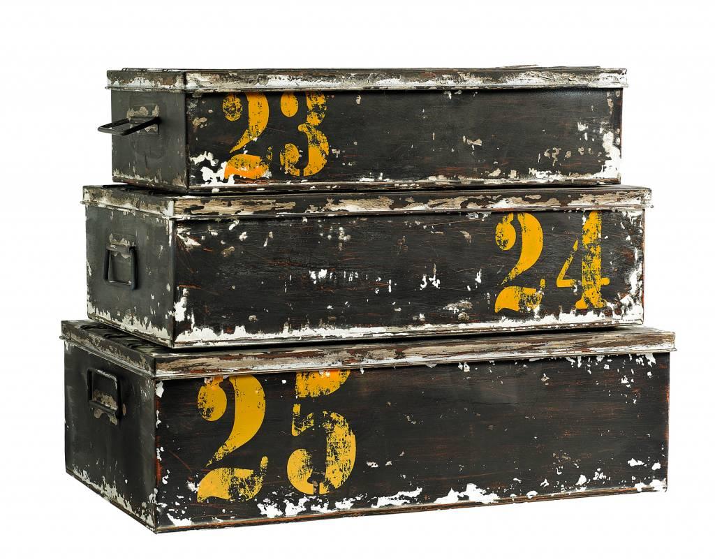 Zwarte Opbergbox set van 2