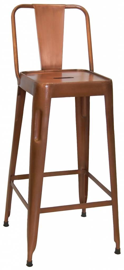 Koper oranje barkruk - Trademark Living
