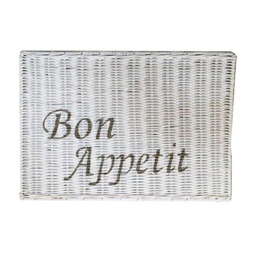 Sweet Living Witte Rieten Placemat - Bon Appetit