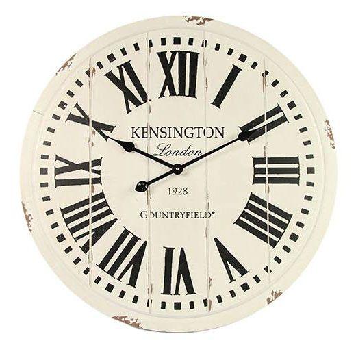 Wandklok Kensington Wit - Countryfield
