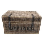 Sweet Living Grote Rieten Mand Met Leren Riemen XL - Hampton Hill