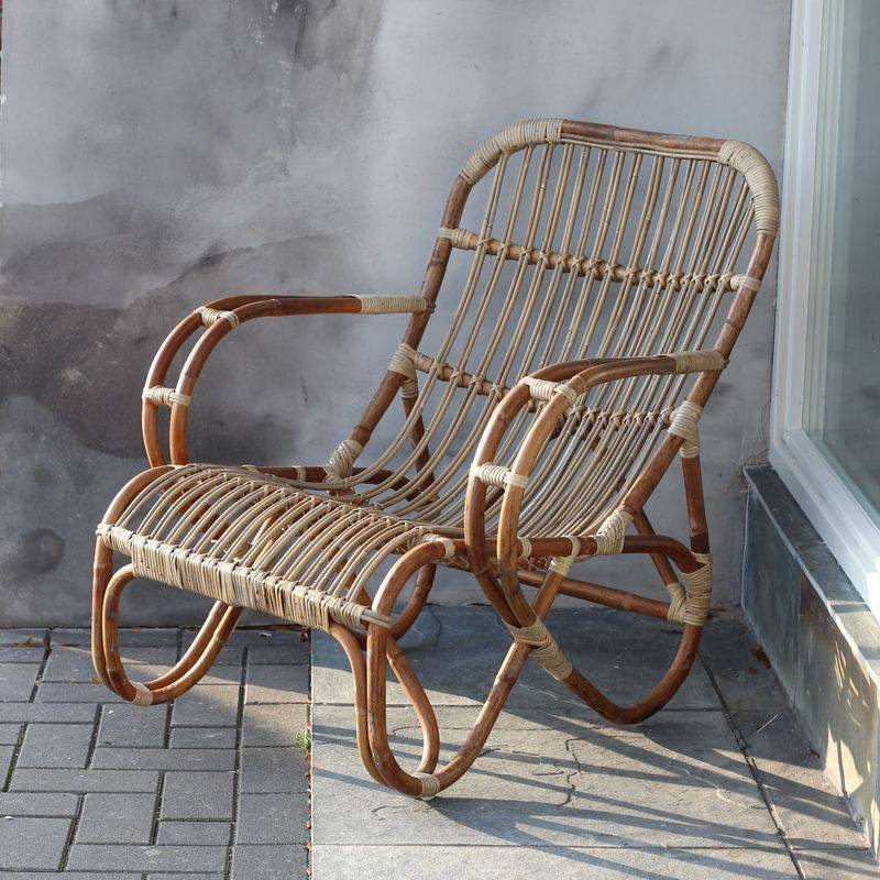 Sweet living naturel rotan loungestoel mahakan sweet for Tuinstoel rotan