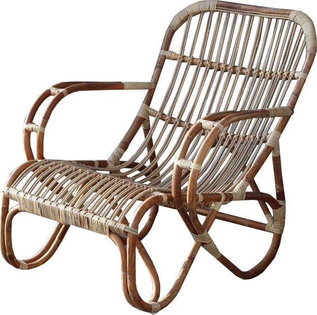 Sweet living naturel rotan loungestoel mahakan sweet for Lounge stoel buiten