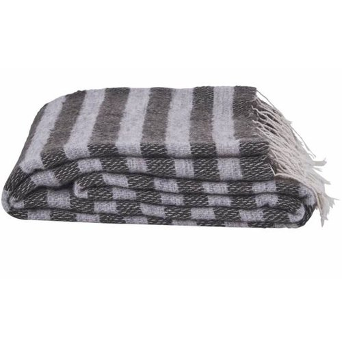 House Doctor Plaid gestreept grijze mix - 130x170 cm