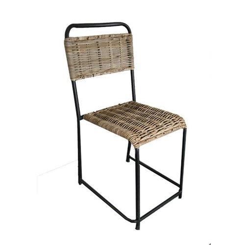 Sweet Living Rotan stoel Bistro - 40x47xH84 cm