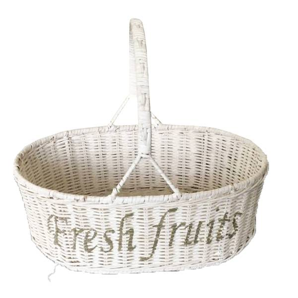 Sweet Living Fruitmand wit - 32x40x31 cm