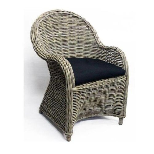 Sweet Living Rotan stoel Antique Grey - 63x63xH89 cm