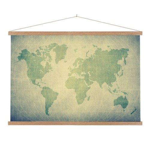 Sweet Living Schoolplaat Wereldkaart Groen Lat