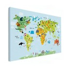 Sweet Living Baby Wereldkaart Canvas